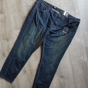 Simply Vera Wang skinny dark Jeans Plus Size 24@